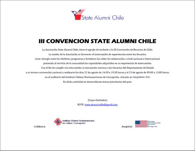 Invitacion III Convención SACh