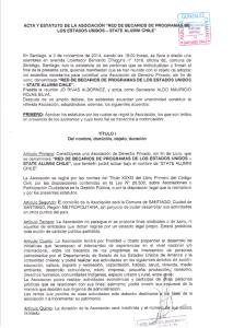Estatutos State Alumni Chile